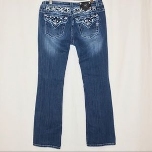 Miss Me Jeans Signature Bootcut Embellished  33x34